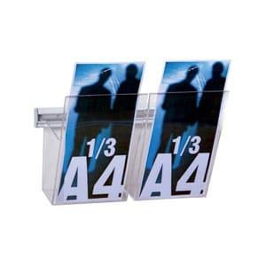 Kit 2 porta depliant 1/3 A4 L 25 cm