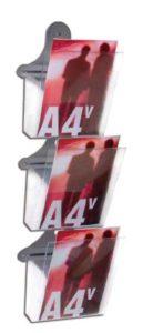 Porta depliant da muro 3 tasche A4 Minimal