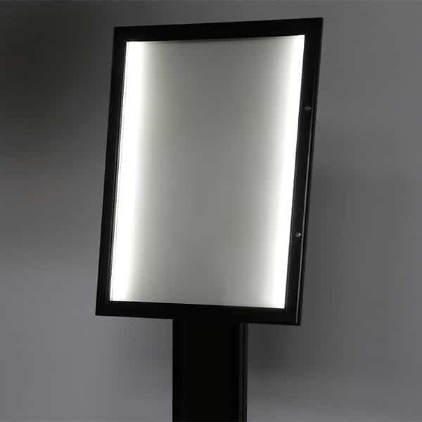 Porta menu a led per 4 fogli A4 nero