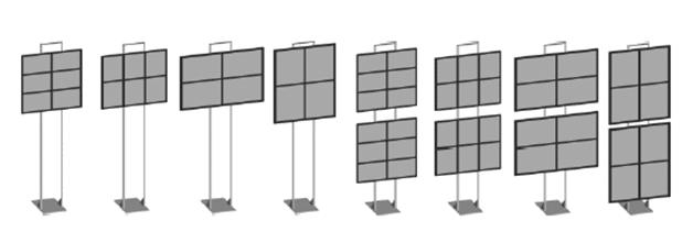 Totem retroilluminato a led_combinazioni